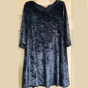 Rolla Coster Crushed Velvet Blue Dress Size Small